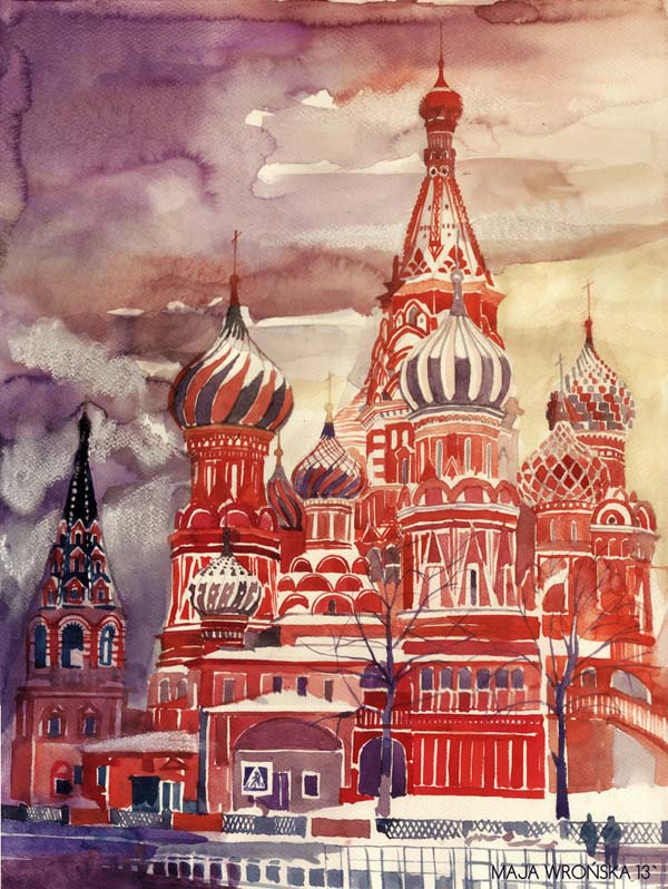 Vibrant Watercolor Paintings Of World Famous Landmarks And