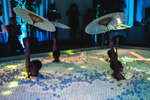 Swimming Pool Light Projection Created With 65 000 Ping