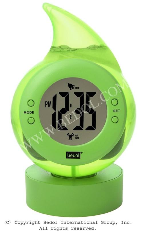 With Digital Alarm Clock Powered By Water No Batteries