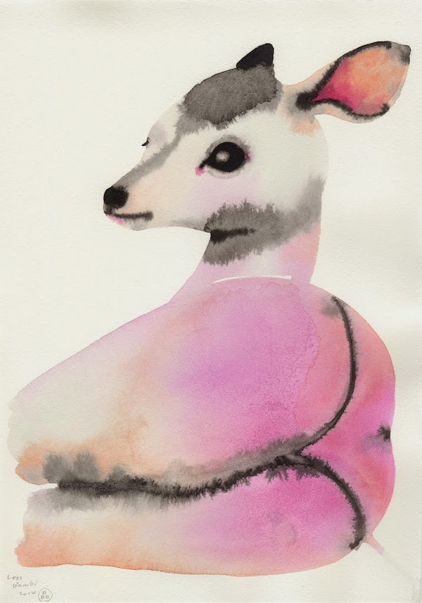 Gorgeous Watercolor Paintings Of Animals With Sexy Human