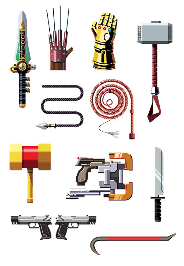 Famous Weapons From Popular Films And Games - DesignTAXI.com