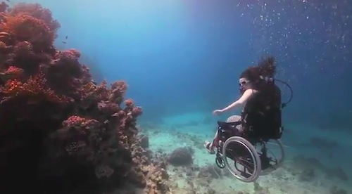 Used Electric Wheelchair >> Artist Modifies A Wheelchair So That It Can Be Used To Scuba Dive Underwater - DesignTAXI.com