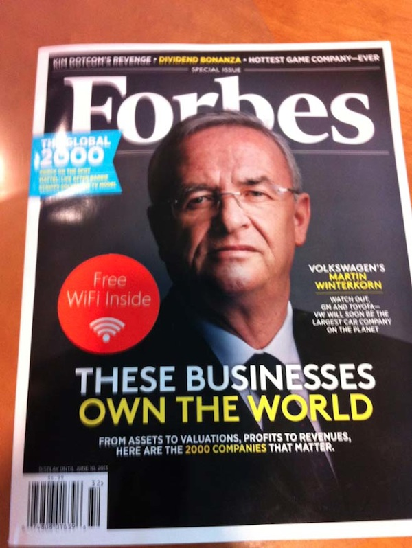 Microsoft Puts Free Portable WiFi In Forbes Magazine Print Issues
