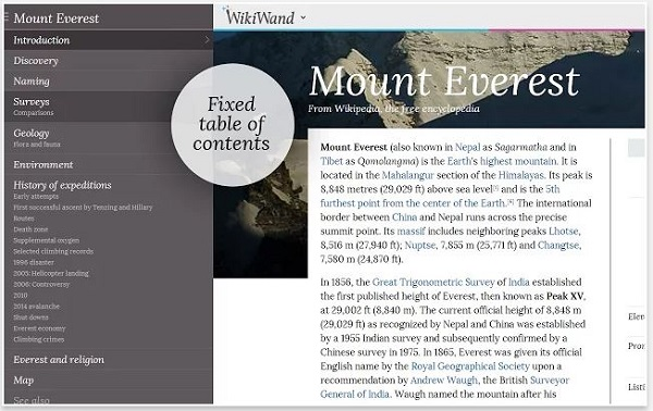 WikiWand' Gives Wikipedia Clean New Layout For A Better