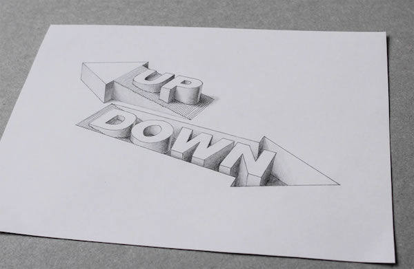 awesome 3d typography creates optical illusions of liquid filled hollow letters
