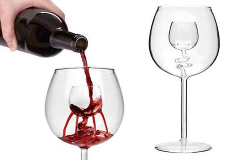Fountain Inspired Wine Glass Accentuates Taste