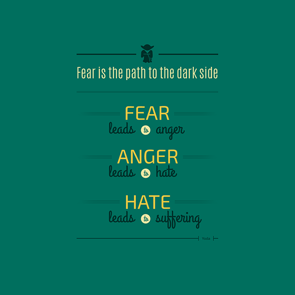 Typographic Illustrations Of Inspiring Quotes By The Always Wise Yoda