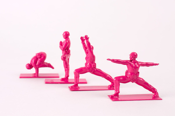 Common Green 'Army Soldier Figurines' Redesigned To Be Doing Yoga Poses