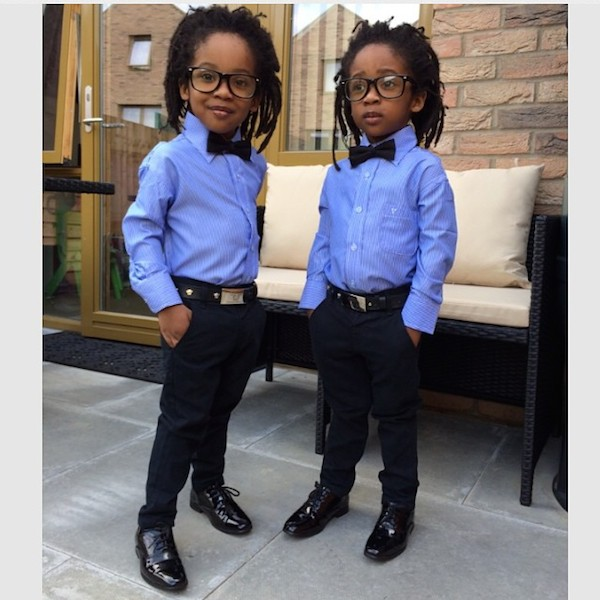 Sweet Photos Of Young Twin Brothers Stylishly Dressed In