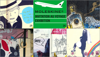 Moleskine the notebook that lives in your pocket click on the thumbnails to view artworks submitted for the invitation au voyage exhibition in detail stopboris Image collections